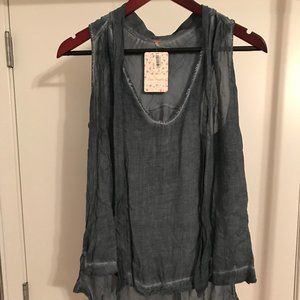 Free People Tie-front Top NWT Size Small